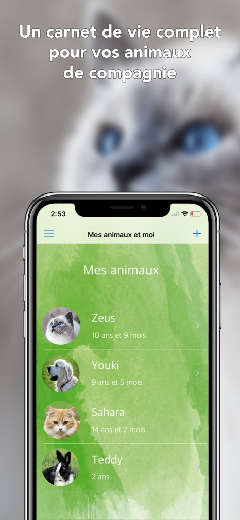 Application mobile Mes animaux et moi